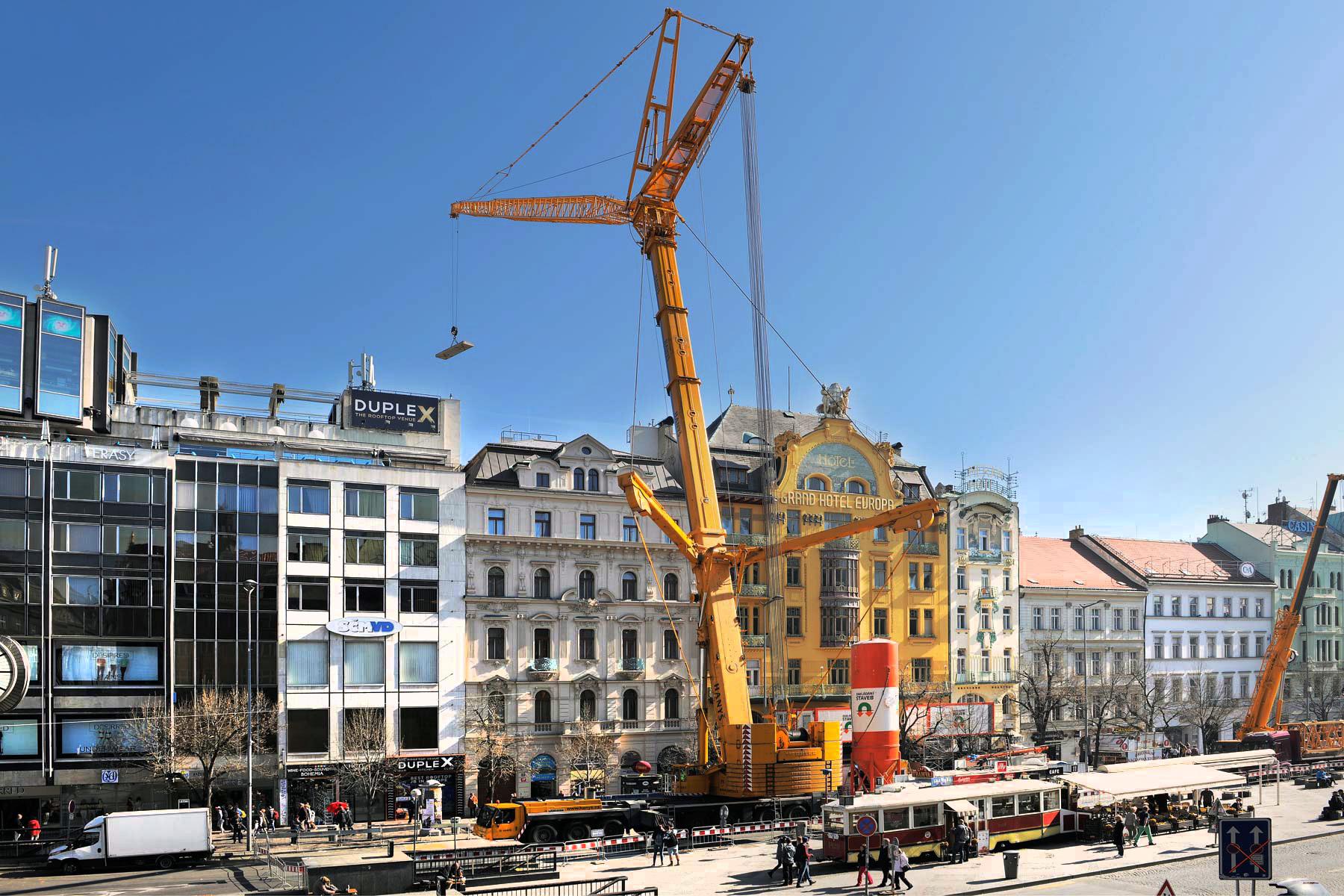 Rekonstrukce a dostavba hotelu Evropa - Praha
