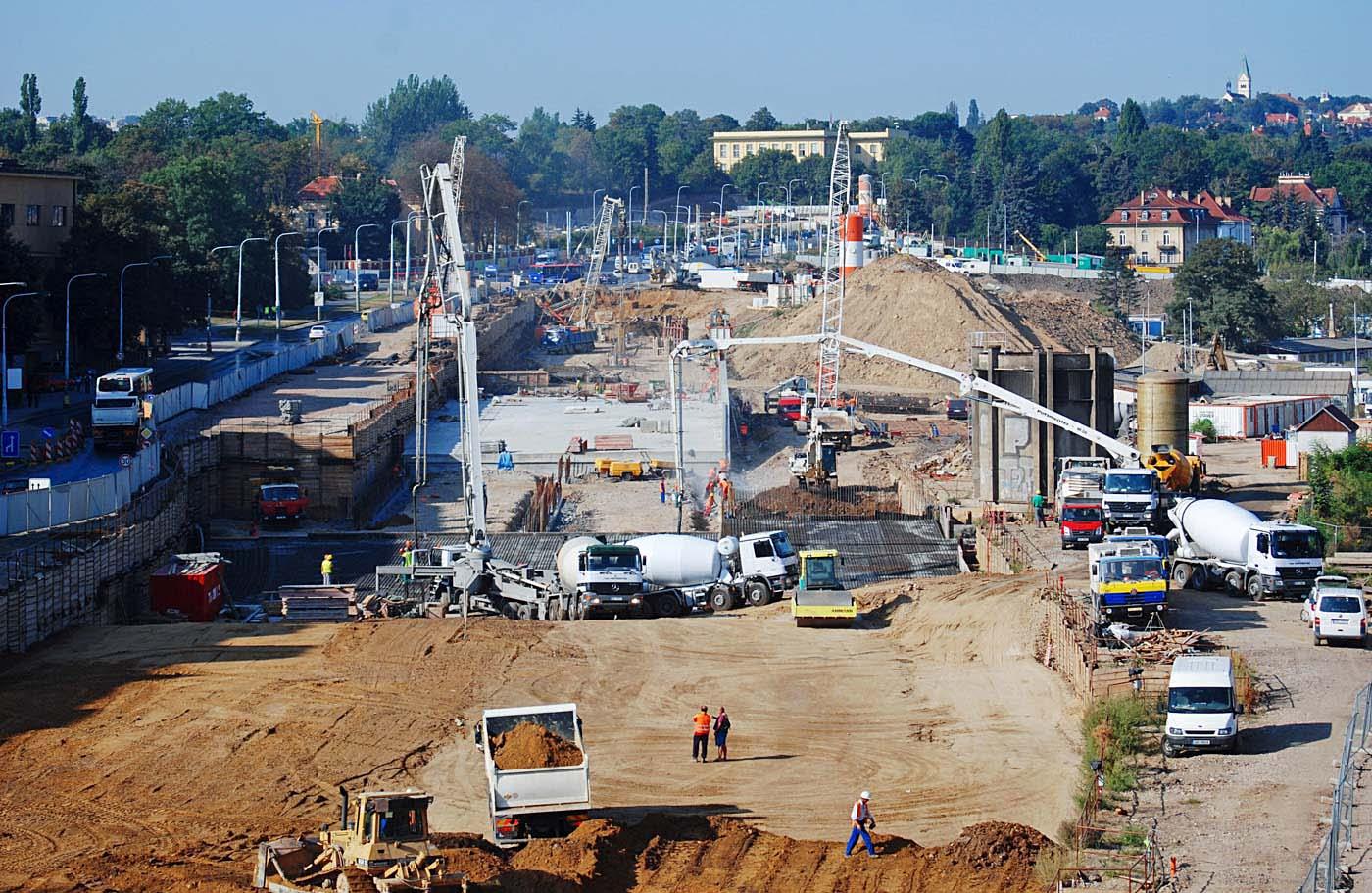 Tunel Blanka v Praze, stavba č. 0080, úsek Prašný most–Špejchar